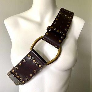 WCM New York Brown Leather Belt L